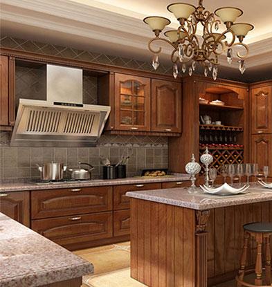 古典美式奢华不锈钢橱柜